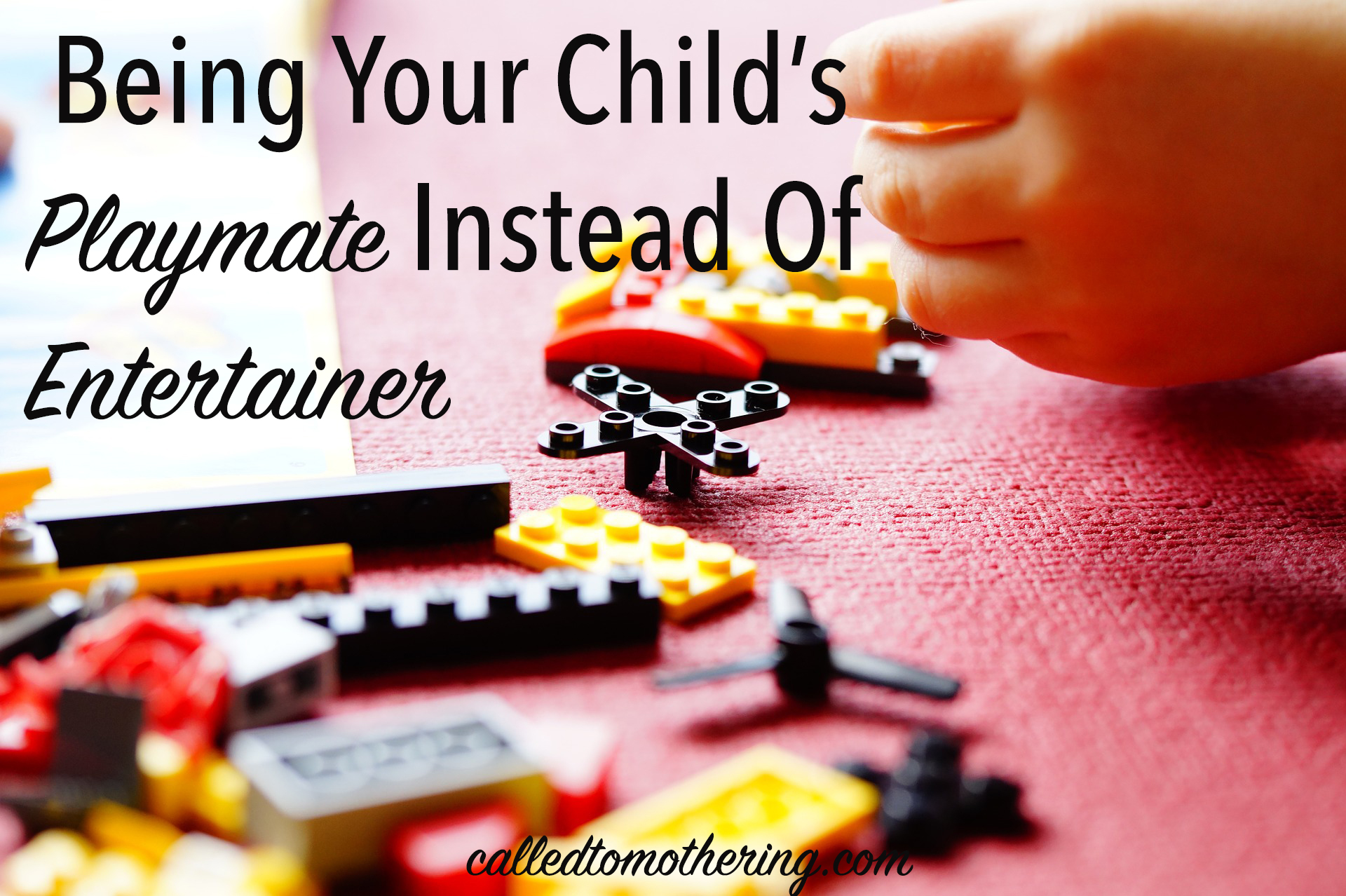 Being Your Child's Playmate Instead of Entertainer