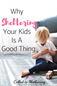 Why Sheltering Your Kids is a Good Thing
