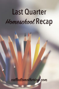 Last Quarter Homeschool Recap