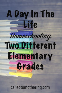 A Day In The Life Homeschooling Two Different Elementary Grades