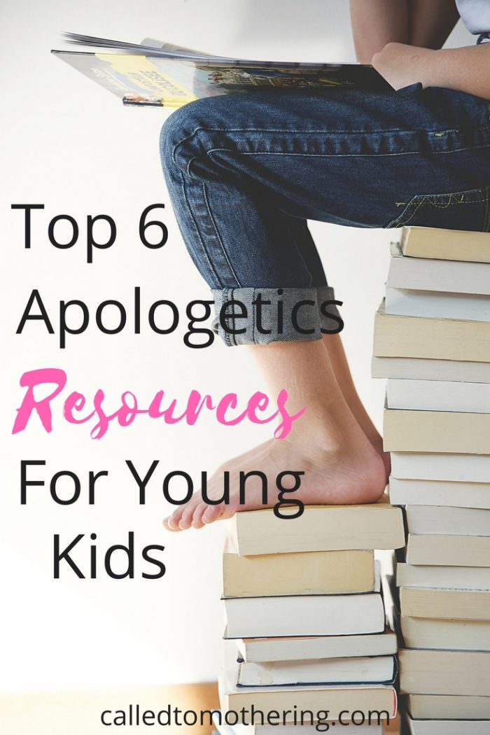 Most of us are overwhelmed with the idea of helping our children defend what they believe. This list of the top 6 apologetics resources will give you the tools you need to help them make a case for their faith! #raisinggodlykids #christianparenting