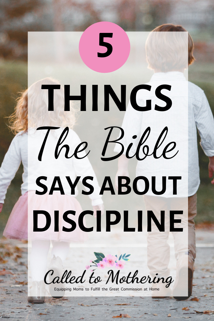 When it comes to disciplining our children, do we listen more to the world's opinions or God's Word? Here are 5 important things the Bible says about the purpose of discipline. #disciplineforkids #childdiscipline #obedience #behavior #christianparenting