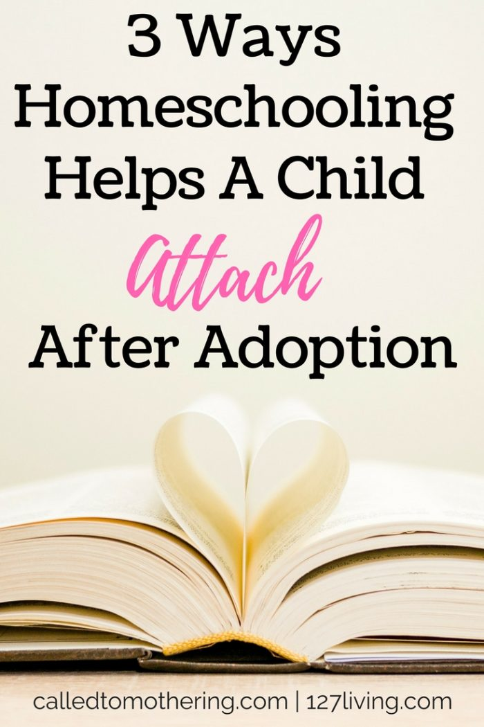 Attachment is an essential component of adoption for a child to thrive with a new family. Here are three ways homeschooling can accomplish this goal!