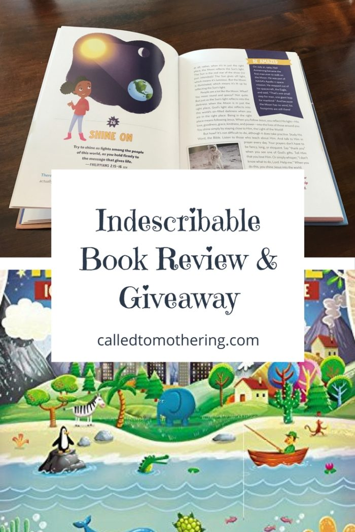 A review and giveaway of the children's devotional, Indescribable: 100 Devotions About God & Science. Enter for a chance to win your copy!
