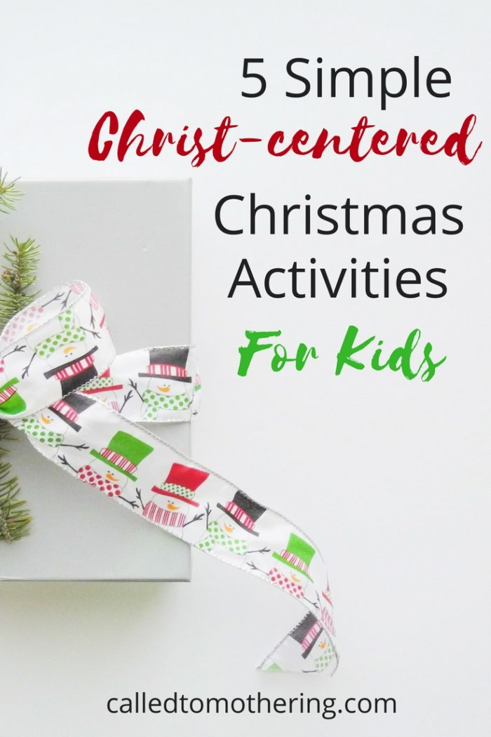 How do we help our kids cut through the noise and understand the true meaning of this often over-commercialized holiday? Here are 5 simple Christ-centered and kid-friendly Christmas activities that won't add that much more to your already full to-do list.