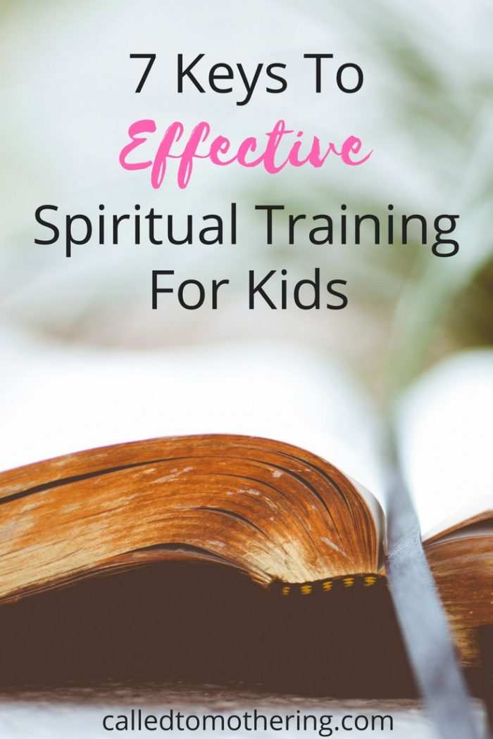 Between laundry, cleaning, throwing dinners together, and keeping the kids from destroying the house and each other, training our children spiritually seems like an impossible task. These 7 keys to spiritual instruction help break down this task into manageable pieces.