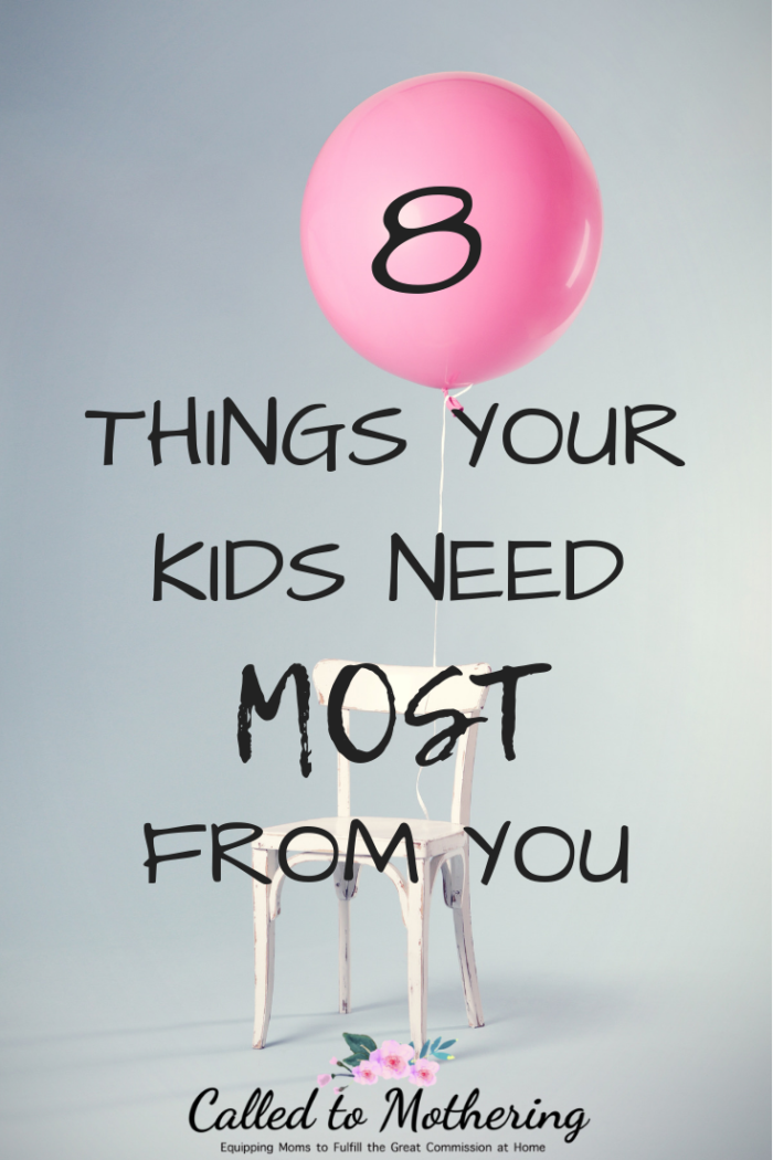 When your children are grown, these 8 things you give them are the ones that will truly matter. #raisingkids #christianparenting #parentinghacks