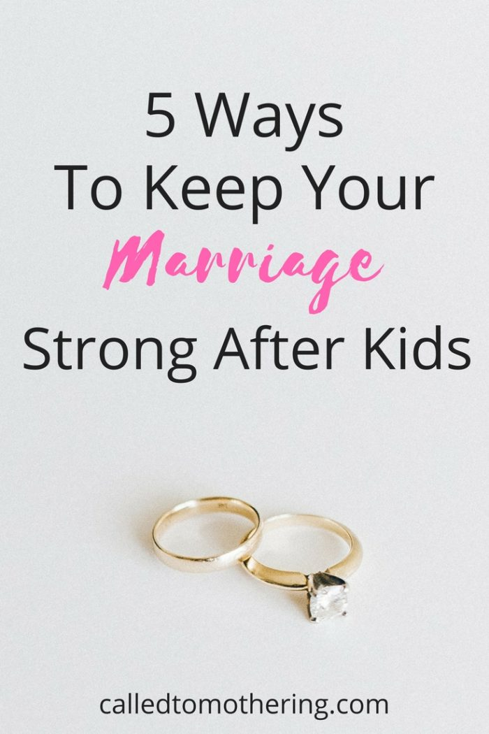 We have to stay on guard when our marriages are under attack, especially in the midst of the very busy parenting years. These 5 tips will help you be intentional at working on maintaining the relationship with your husband and keeping it strong! #christianmarriage