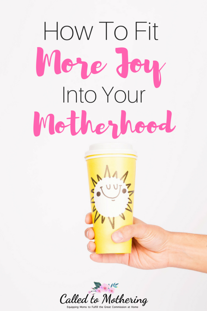Practical ways to recognize and reclaim the simple joys of motherhood. #momencouragement #christianmotherhood #parentingadvice