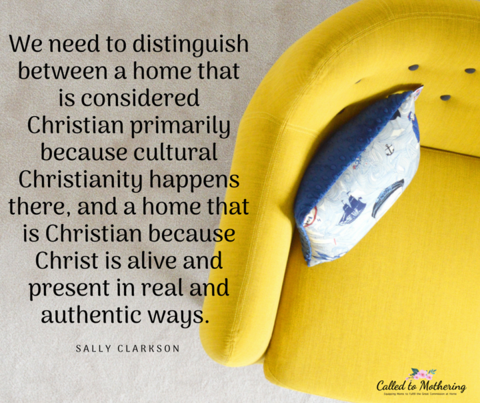 How to build a truly Christian home.