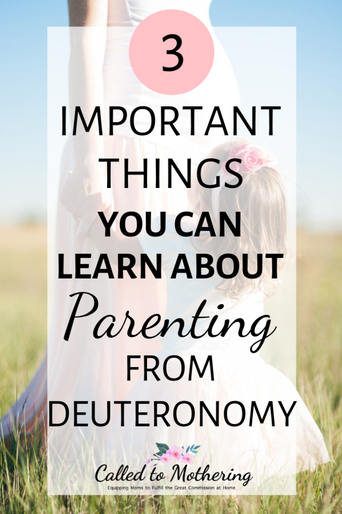Three important parenting lessons from the Book of Deuteronomy. #christianparenting #raisinggodlykids #christianmotherhood