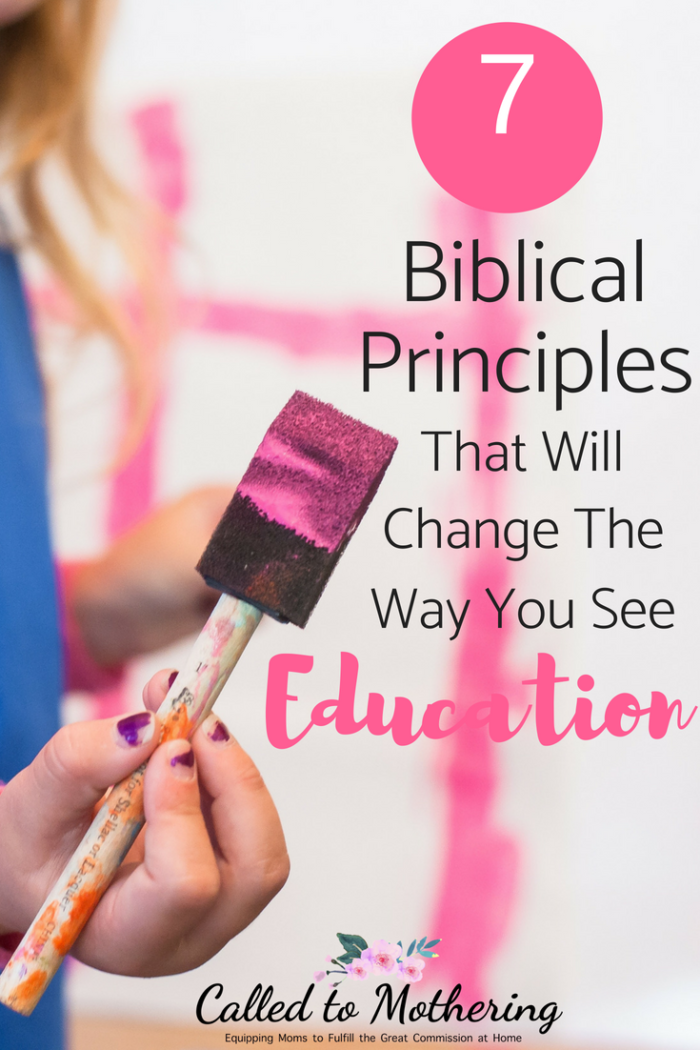 Seven biblical principles about the instruction and training of children that will give you a clear approach to your child's education. #biblicaleducation #christianparenting #discipleship