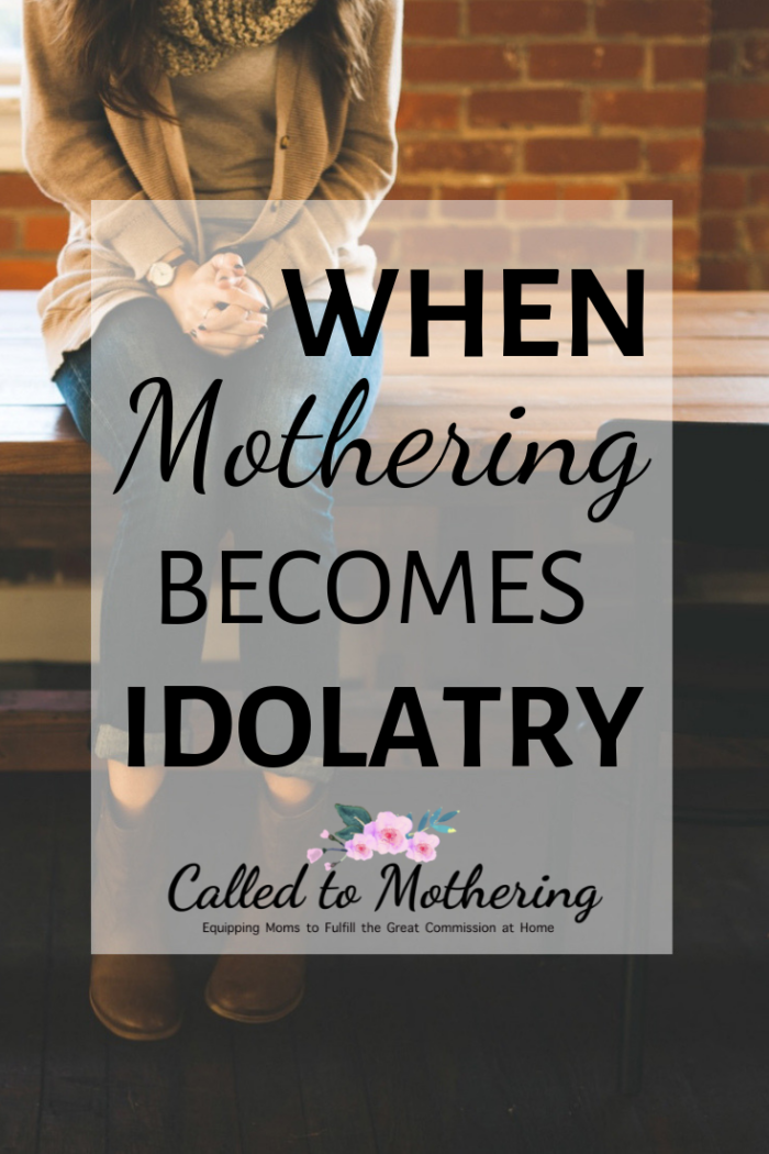 If I'm seeking validation from my kids or the congratulations of other parents for my well-behaved children, then mothering has stopped being a ministry- it has become an idol. #christianmotherhood #christianparenting #momencouragement