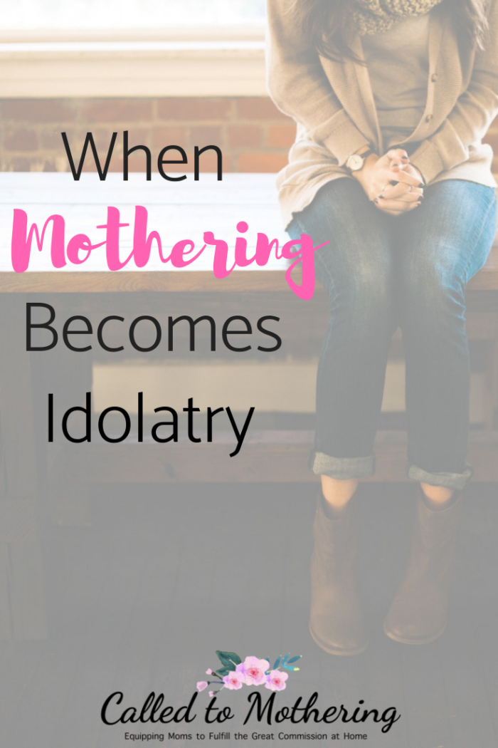 When mothering becomes an idol rather than a ministry. #motherhood #gospelcenteredparenting #momencouragement #biblicalmotherhood