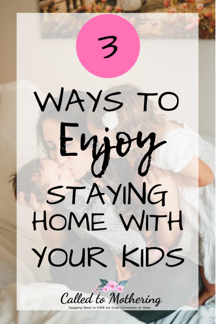 3 ways to thrive as a stay-at-home mom. #christianmotherhood #momencouragement #SAHM #biblicalmotherhood