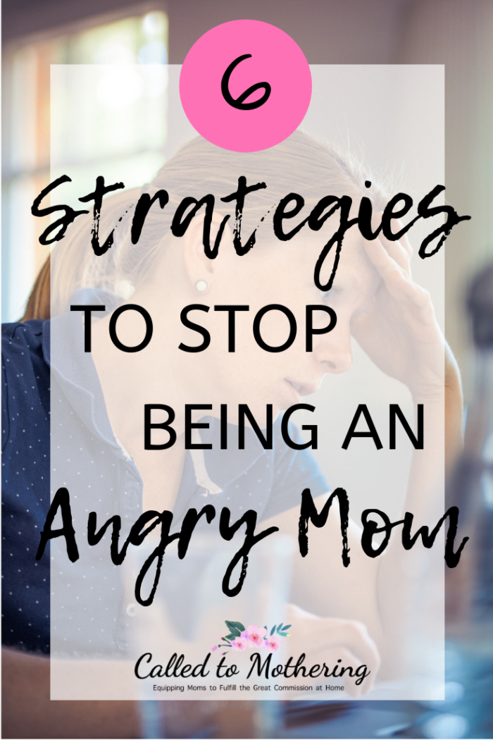 Six effective ways to stop being an angry and stressed out mom. #christianparenting #christianmotherhood #momencouragement #parentingadvice