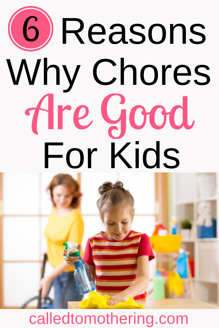 Six awesome benefits of giving your kids daily chores. #chores #teachingkidsresponsibility #charactertraining