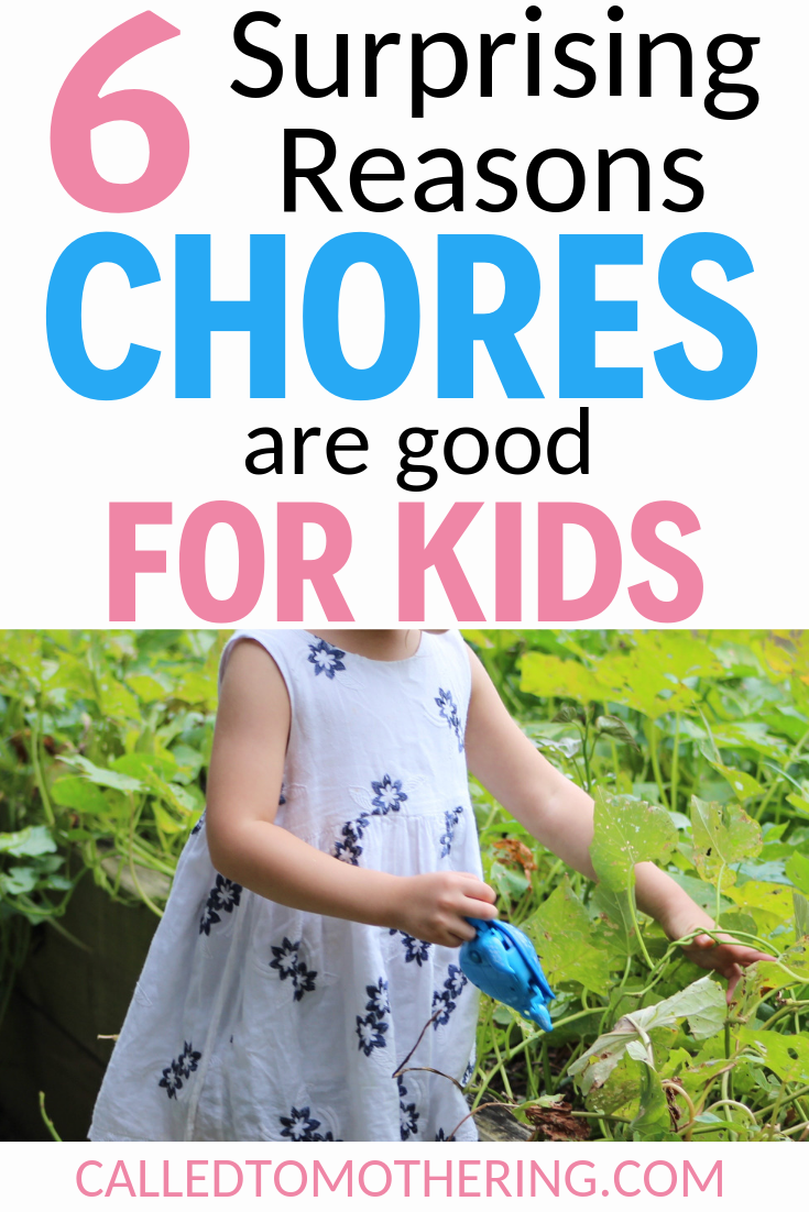 Discover six advantages of giving your kids chores, for both them and you! #chores #responsibilityforkids #charactertraining
