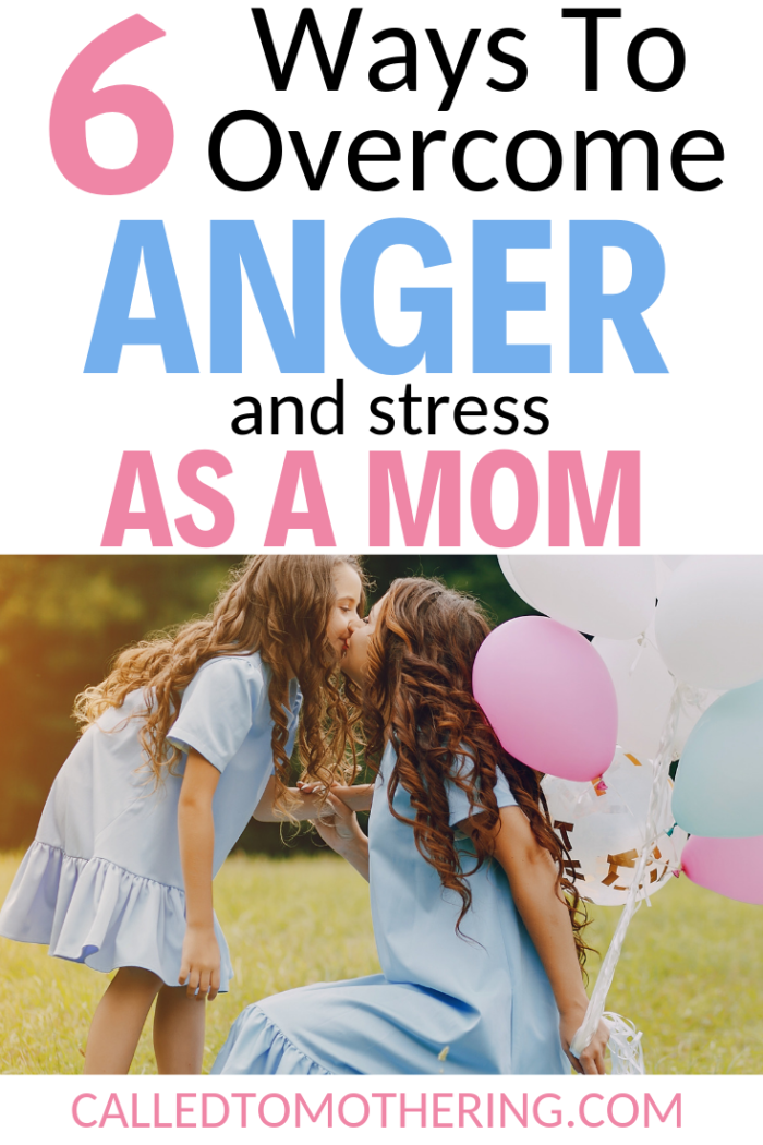 Is anger and stress getting the best of you? Here are six effective ways to overcome frustration with your kids so you can become a happier, more peaceful mom. #momanger #christianmotherhood #momencouragement #parentinghacks #gentleparenting