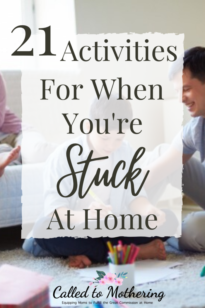 21 fun and frugal activities you can do at home with your kids to keep them busy for hours! #indooractivitieswithkids #kidsactivities