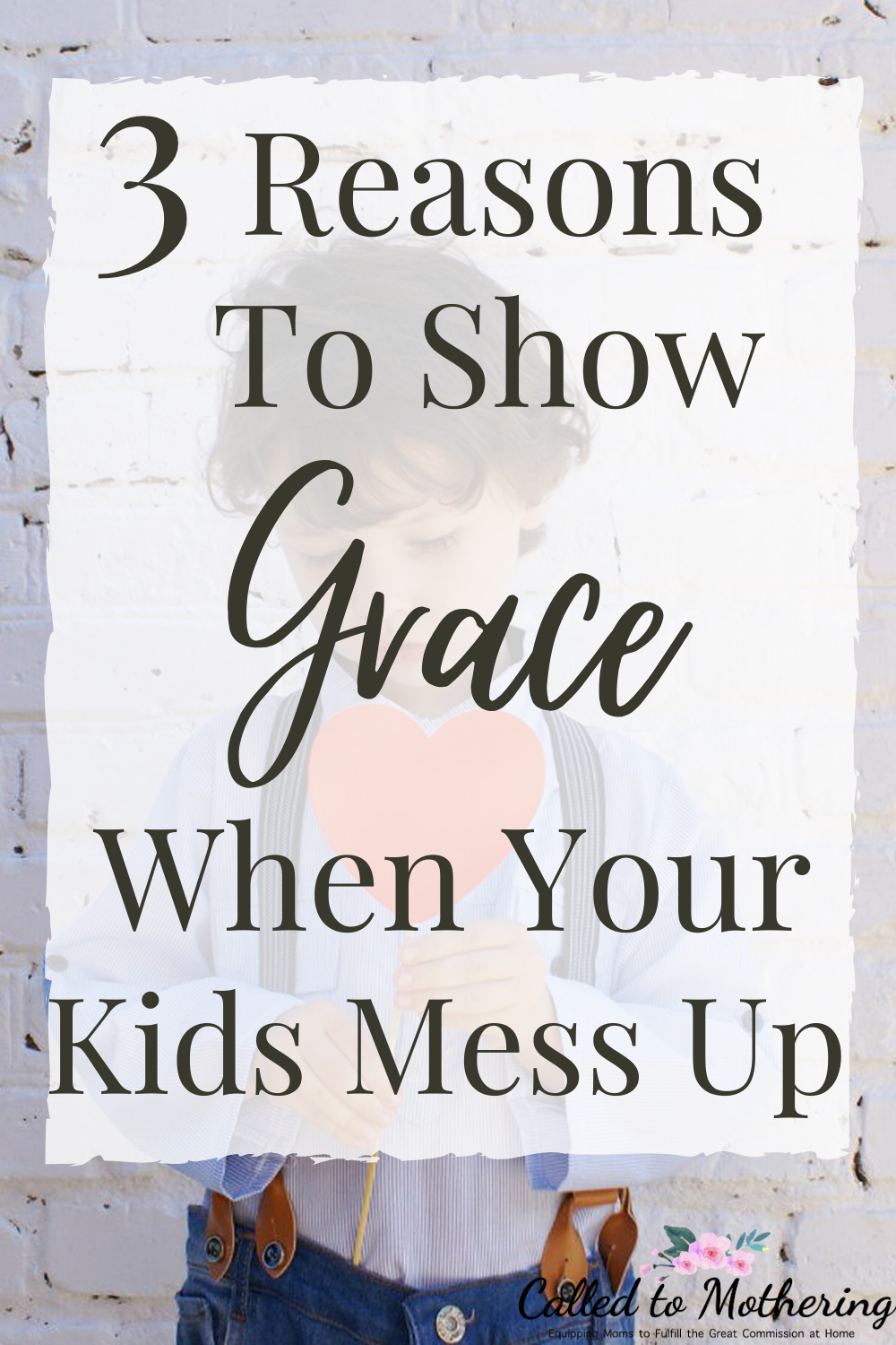 Three reasons to show grace to your kids even when you think they don't deserve it. #christianparenting #positiveparenting #raisinggodlykids #gentleparenting