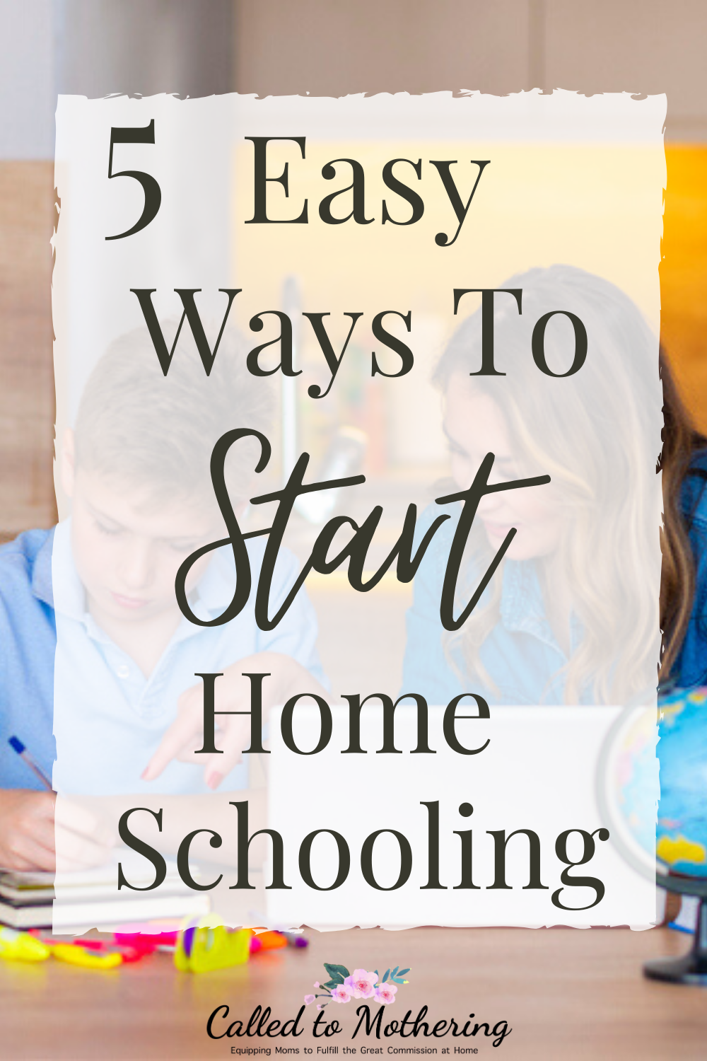 It can be overwhelming knowing exactly where to begin in the homeschool process. Here are 5 helpful tips on how to get started! #homeschooling #homeschooltips
