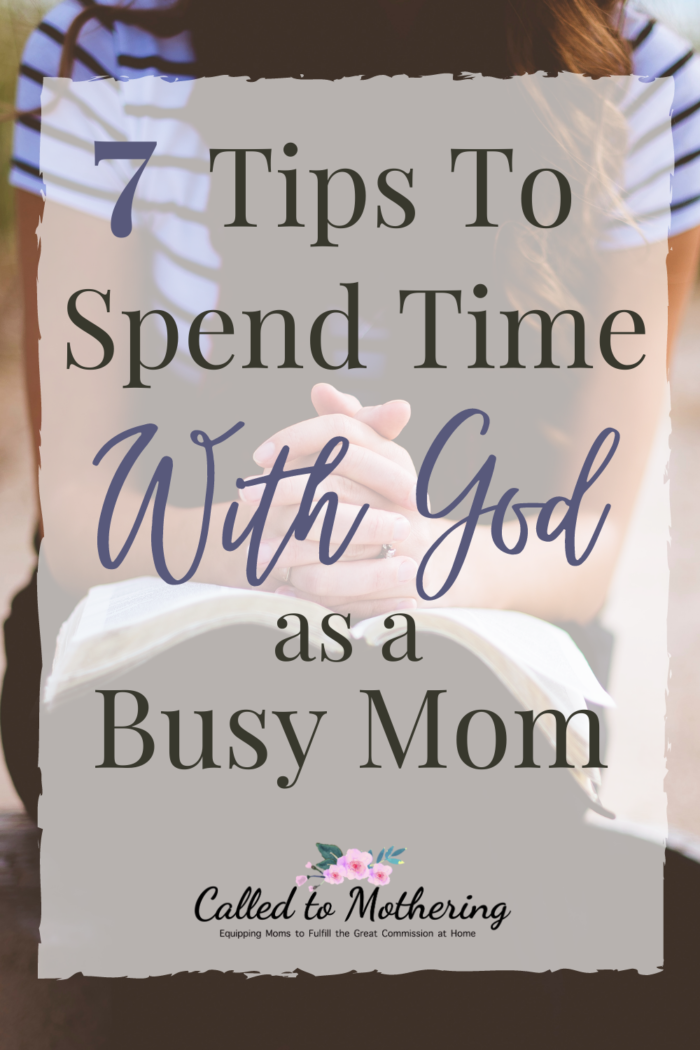 As a mom, finding precious moments to spend with God daily can be a struggle. Here are some practical ways to carve out time for Bible study and prayer in this busy season of motherhood. #momencouragement #christianmotherhood #biblestudytips