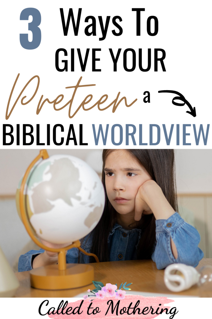 The tween years are crucial for establishing an unshakeable foundation of faith. Here are 3 ways to equip your preteen with a solid biblical worldview!